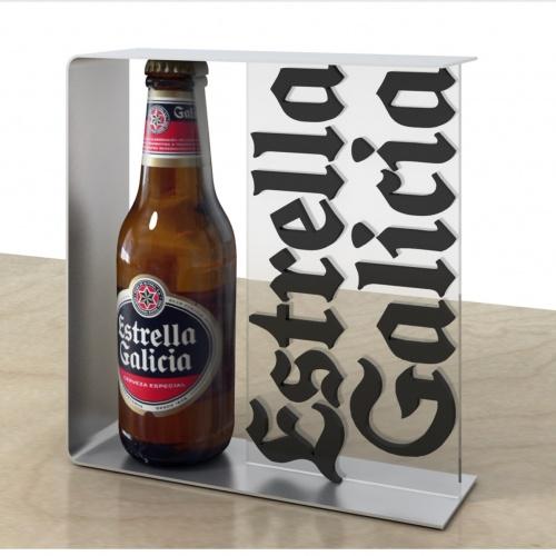 PLV: Metacrilato con Aluminio para Estrella Galicia